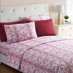 spirit linen Bedding - Anemone Jeweled Paisley6Piece Microfiber Sheet Set